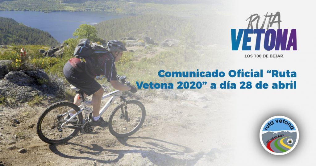 Comunicado oficial Ruta Vetona 2020